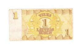 1 roebelrekening van Letland Royalty-vrije Stock Foto
