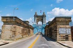 roebling αναστολή του Κινκινάτι John Οχάιο γεφυρών Roebling Suspension στο Κινκινάτι, Οχάιο στοκ εικόνες