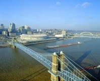 Roebling Aufhebung-Brücke, stockbild
