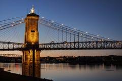 roebling inställning för bro Arkivfoto