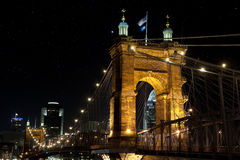 Roebling Suspenion Bridge Royalty Free Stock Photos