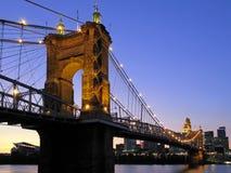 Roebling Suspension Bridge Royalty Free Stock Photography