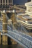 Roebling Suspension Bridge over the Ohio River, Cincinnati, OH Stock Image