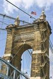 Roebling upphängningbro Arkivfoton