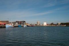 Roedby港口在丹麦 库存照片