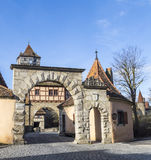 Roeder gate in Rothenburg ob der Royalty Free Stock Photography