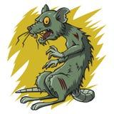Roedor del ratón de la rata del zombi stock de ilustración