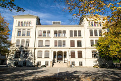 Roedsberg middle school. Is the largest middle high school in Halden, Norway Stock Photo
