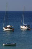 Roeien in het Middellandse-Zeegebied Royalty-vrije Stock Afbeelding