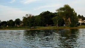 Roeien in Minnesota - lakeshore in noordelijk Minnesota stock videobeelden