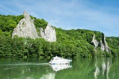 Roeien op rivier Royalty-vrije Stock Foto