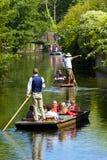 Roeien op Stour-rivier, Canterbury, het UK Stock Foto