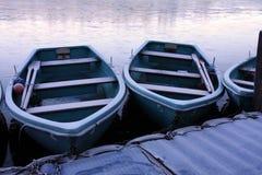 Roeiende boten stock afbeelding