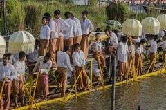 Roeiers op de boot Stock Fotografie