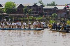 Roeiers op de boot Royalty-vrije Stock Foto's