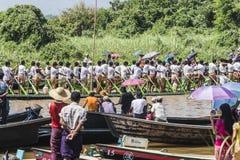 Roeiers op de boot Royalty-vrije Stock Foto