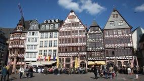 Roemberberg square in Frankfurt, Germany stock video