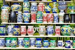 Roemeens aardewerk voor verkoop Royalty-vrije Stock Fotografie