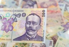 Roemeens bankbiljet van 100 Royalty-vrije Stock Afbeeldingen