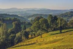 Roemeens landelijk landschap Stock Foto