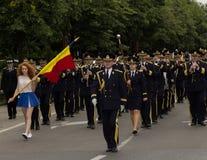 Roemeens LegerFanfarekorps stock afbeeldingen
