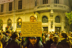 Roemeens Protest 04/11/2015 Stock Afbeelding