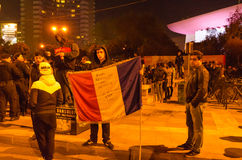 Roemeens Protest 04/11/2015 Stock Fotografie