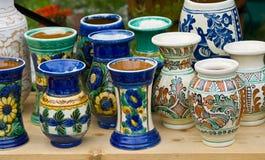 Roemeens traditioneel aardewerk Royalty-vrije Stock Afbeeldingen