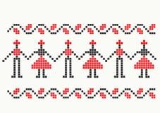 Roemeens traditioneel patroon Stock Afbeeldingen