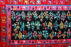 Roemeens traditioneel tapijt Stock Fotografie
