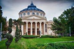 Roemeense Athenaeum in Boekarest stock afbeelding