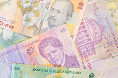 Roemeense bankbiljetten royalty-vrije stock foto