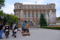 Roemeense Legerparade in Boekarest, Roemenië Stock Foto's