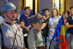 Roemeense Legerparade in Boekarest, Roemenië Stock Foto