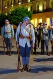 Roemeense Legerparade in Boekarest, Roemenië Royalty-vrije Stock Foto
