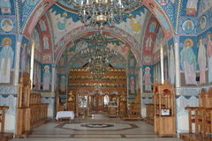 Roemeense orthodoxe kerk binnen Stock Fotografie