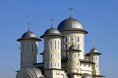 Roemeense Orthodoxe Kerk, stad Bacau, Roemenië stock foto's