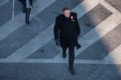 Roemeense President Klaus Iohannis stock afbeeldingen
