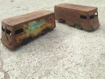 Roemeense tinstuk speelgoed bestelwagen Stock Afbeelding