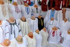 Roemeense traditionele blouse d.w.z. Stock Foto's