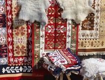 Roemeense traditionele deken stock afbeelding