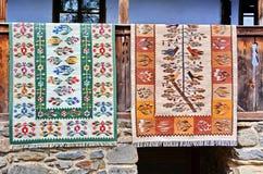 Roemeense traditionele deken royalty-vrije stock afbeeldingen