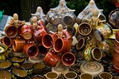 Roemeense traditionele koppen Stock Fotografie