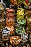 Roemeense traditionele koppen en kommen Royalty-vrije Stock Foto