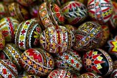 Roemeense traditionele paaseieren stock foto's