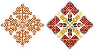 Roemeense traditionele tapijtthema's vector illustratie