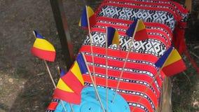 Roemeense vlaggen Stock Afbeeldingen