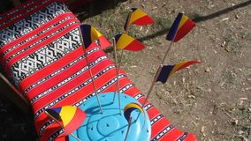 Roemeense vlaggen Royalty-vrije Stock Foto