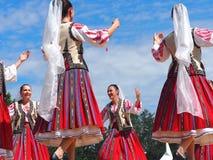 Roemeense Volksdansers stock foto's