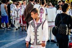Roemeense Volksdansers op Nationale Soevereiniteit en Kinderen` s Dag - Turkije Royalty-vrije Stock Fotografie